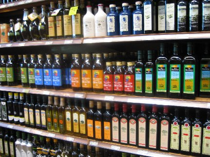 Image taken from http://whatscookingamerica.net/Foto4/OliveOilShelf.jpg